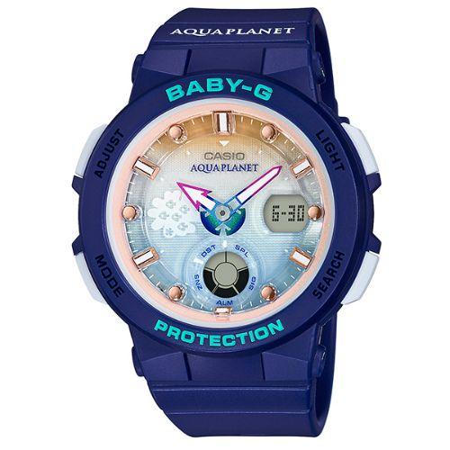 カシオ ベビーG  アナ・デジ腕時計  BGA-250AP-2AJR アクアプラネット タイアップモデル レディース 国内正規品