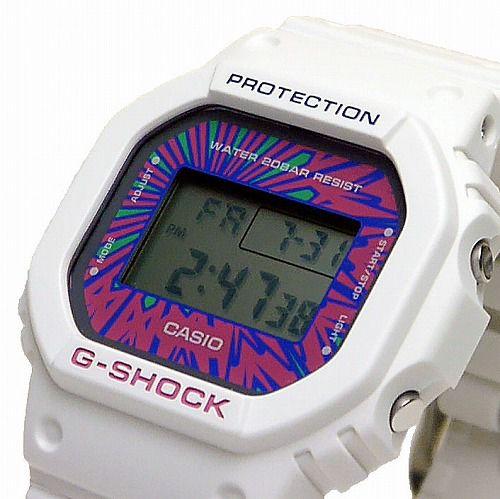 CASIO G-SHOCKホワイト デジタル腕時計  DW-5600DN-7JF メンズPsychedelic Multi Colors 限定品 国内正規品