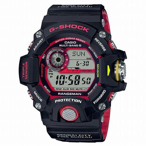 カシオGショック レンジマン ソーラー電波腕時計 GW-9400NFST-1AJR メンズ 「緊急消防援助隊コラボレーションモデル」国内正規品
