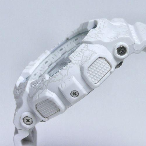 カシオGショック白 アナログ・デジタル腕時計  GA-100CG-7AJF クラックドパターン 限定品 メンズ 国内正規