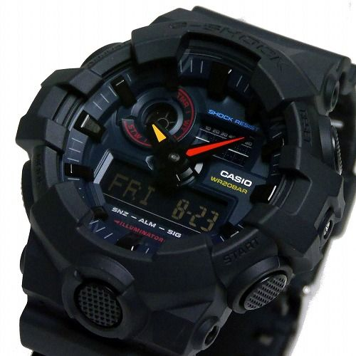 カシオGショック アナデジ腕時計  GA-700BMC-1AJF Black X Neon メンズ 国内正規品