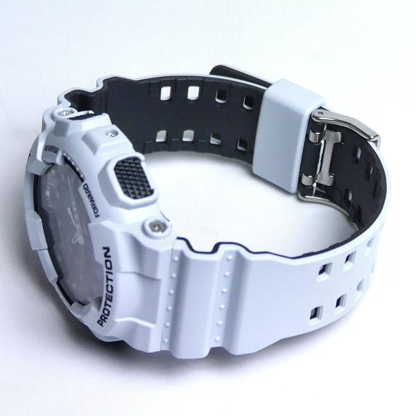 カシオGショック白 アナログ・デジタル腕時計   Layered Color Series GA-100L-7AJF メンズ 国内正規品 【動画有】