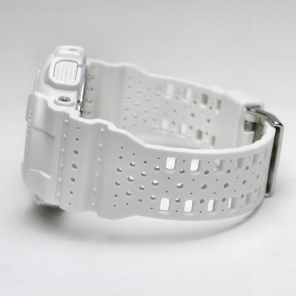 カシオGショック白 アナログ・デジタル腕時計  GA-110LP-7AJF パンチング・パターン・シリーズ メンズ 国内正規品