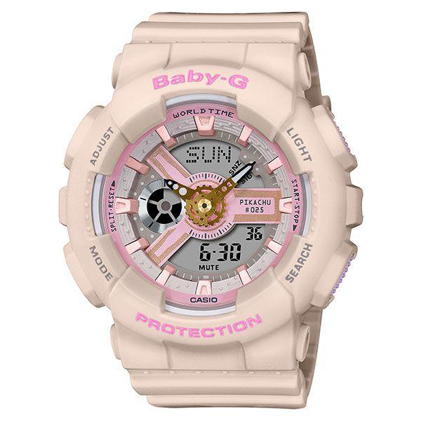 カシオ ベビーG アナ・デジ 腕時計  BA-110PKC-4AJR ピカチュウ コラボレーションモデル レディース 国内正規品