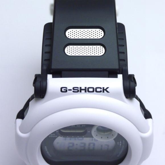 カシオGショック白 デジタル腕時計  G-001BW-7JF White and Black Series メンズ 国内正規品 【動画有】