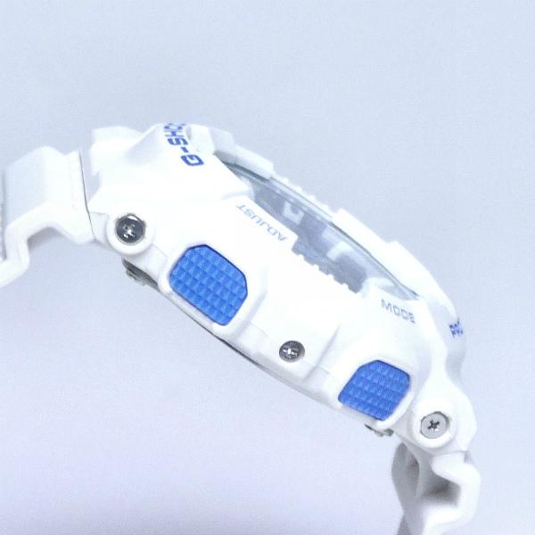 カシオGショック白 アナログ・デジタル腕時計  ホワイト×ライトブルー GA-110WB-7AJF メンズ 国内正規品 【動画有】