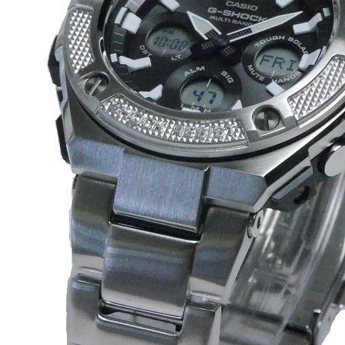 カシオGショックGスチール ミドルサイズ電波ソーラー腕時計  GST-W330D-1AJF メンズ 国内正規品