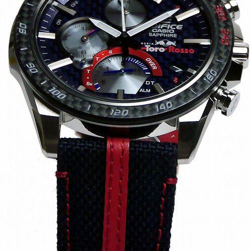 カシオ エディフィス ソーラー腕時計   EQB-1000TR-2AJR Scuderia Toro Rosso Limited Ddition スマートフォンリンク メンズ 国内正規品