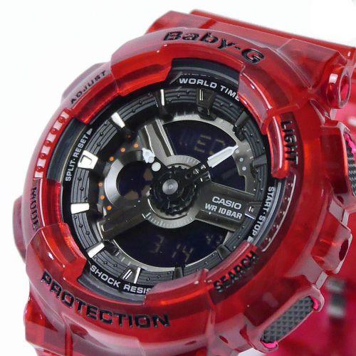 カシオ ベビーG アナ・デジ 腕時計   BA-110CR-4AJF アクアプラネット コラボモデル レディース 国内正規品