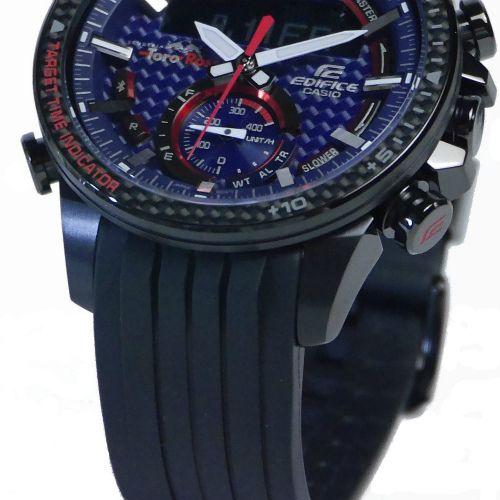 カシオ エディフィス スマートフォンリンク ソーラー腕時計  ECB-800TR-2AJR スクーデリア・トロ・ロッソ・リミテッドエディション メンズ 国内正規品