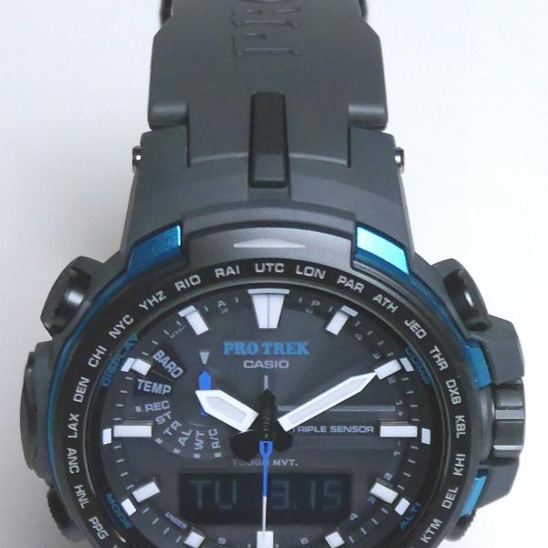 カシオ プロトレック アナログ・デジタル ソーラー電波腕時計   PRW-6100Y-1AJF メンズ 国内正規品 【動画有】