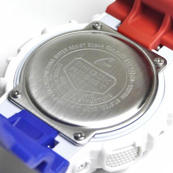 カシオGショック白 アナログ・デジタル腕時計  GA-120TRM-7AJF トリコロールカラー メンズ 限定品 国内正規品