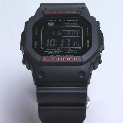 カシオGショック ソーラー電波腕時計  GW-5000HR-1JF ブラック&レッドシリーズ メンズ 国内生産正規品 【動画有】