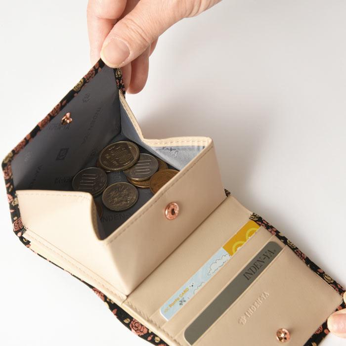 【甲州印伝 】No.8403  二つ折り財布 (かぐわシリーズ)