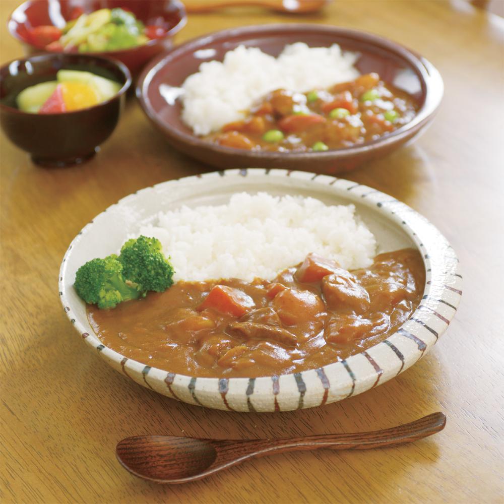 【信楽焼】カレー専用皿 (オリジナル商品)