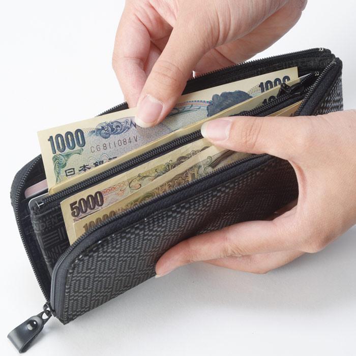 【甲州印伝 】No.2315 L字開きシンプル長財布