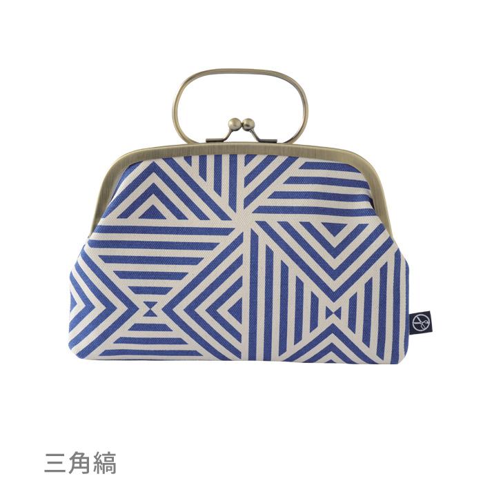 【五色帆布堂】藍色シリーズ ぺったんこ口金ポーチ (お買い得品)