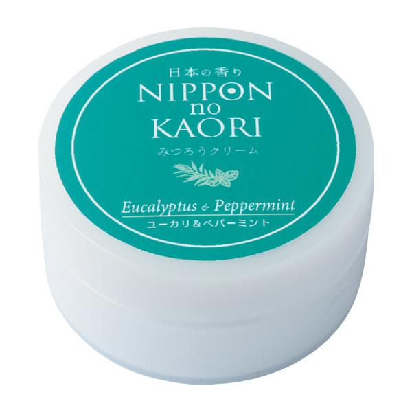 【純国産アロマ 日本の香りシリーズ】みつろうクリーム (ユーカリ&ペパーミント)