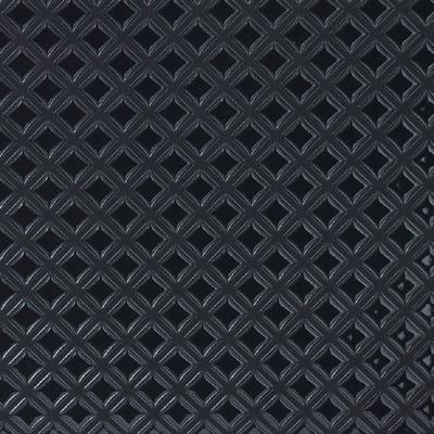 【甲州印伝 】No.6037 ショルダーバッグ (黒×黒:ブロックチェック)