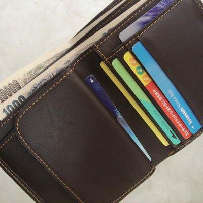 【柿渋染め 】二つ折り財布