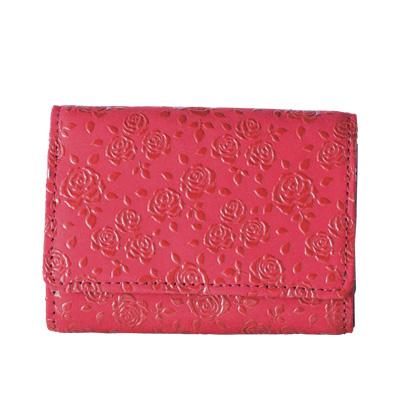【甲州印伝 】No.2216 三つ折りコンパクト財布