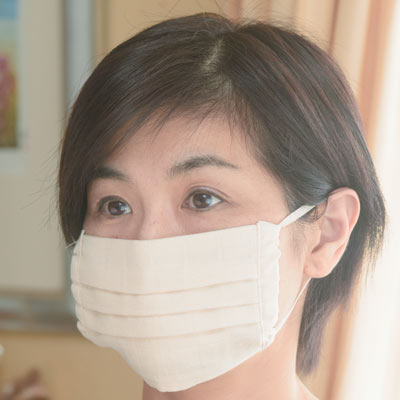 【オーガニックコットン】マスク (無地)