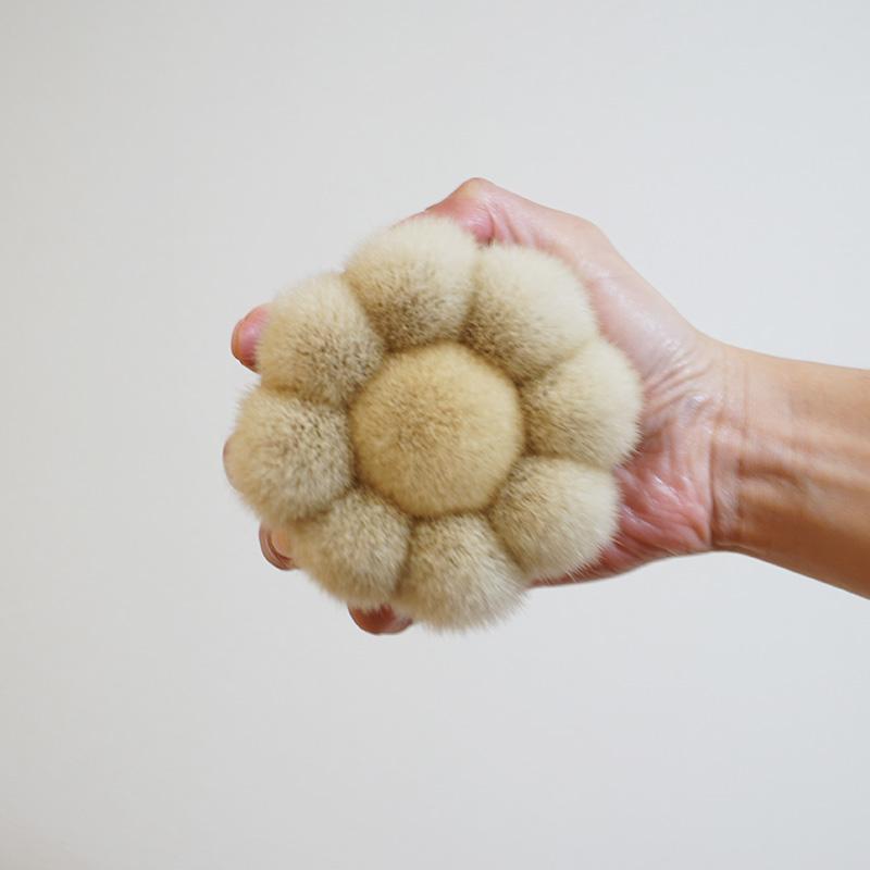 熊野筆 花型ボディブラシ