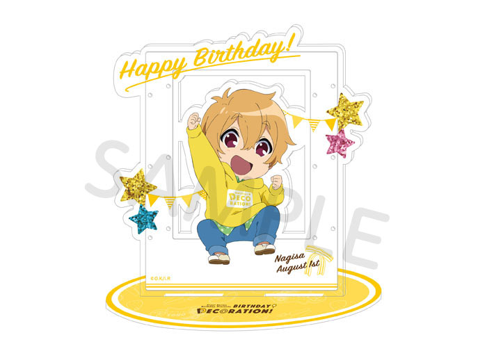 Free!シリーズ BIRTHDAY★DECORATION アクセサリーアクリルスタンド【渚】【在庫品】