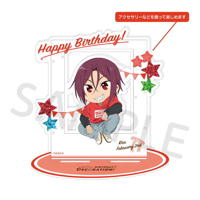 Free!シリーズ BIRTHDAY★DECORATION アクセサリーアクリルスタンド【凛】【在庫品】