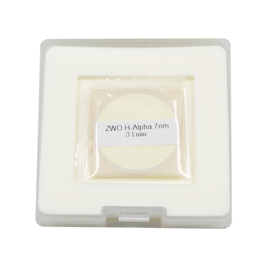 ZWO ナローバンド(7nm)φ31mmフィルター(Hα/SII/OIII/Hα・SII・OIII3枚セット)