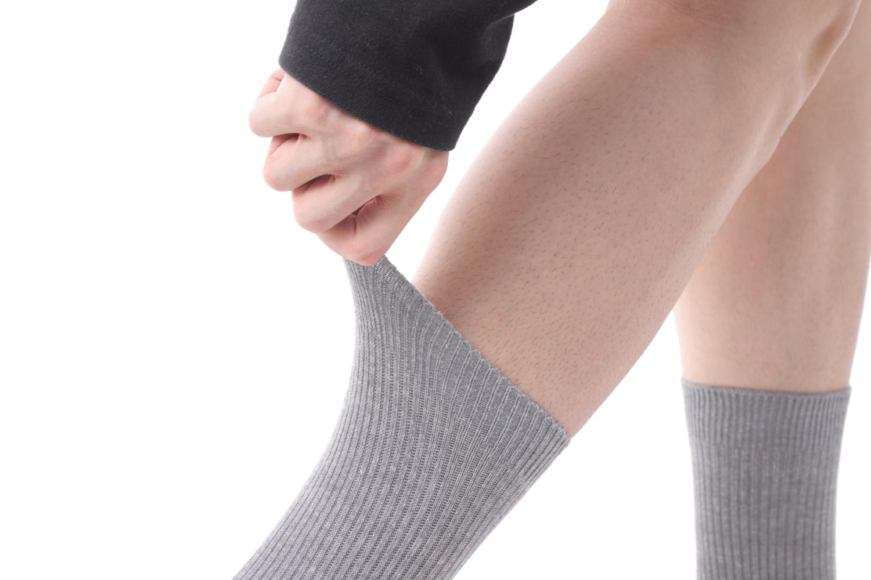 送料無料 日本製 紳士 綿混 破れにくい靴下 24-26cm