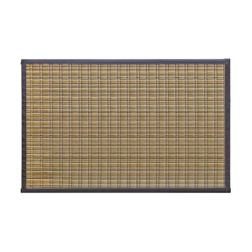 福岡県特産「掛川織」い草玄関マットブラウン