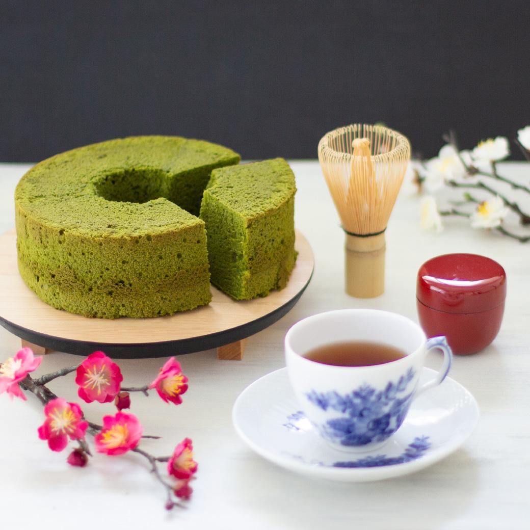 抹茶シフォンケーキ(ホール)