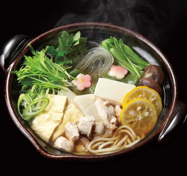 京野菜と丹波鶏の柚子なべ