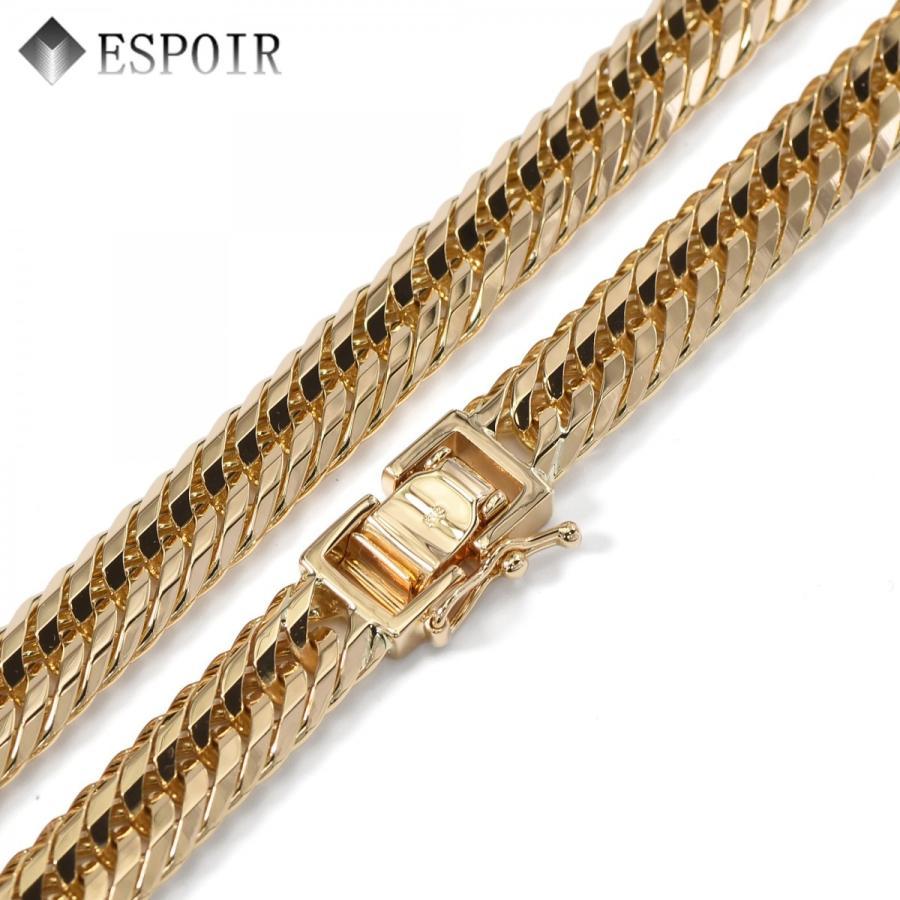 18金 喜平ネックレス K18 12面カットトリプル 100cm 50g 造幣局検定マーク 刻印入り メンズ レディース 喜平 チェーン