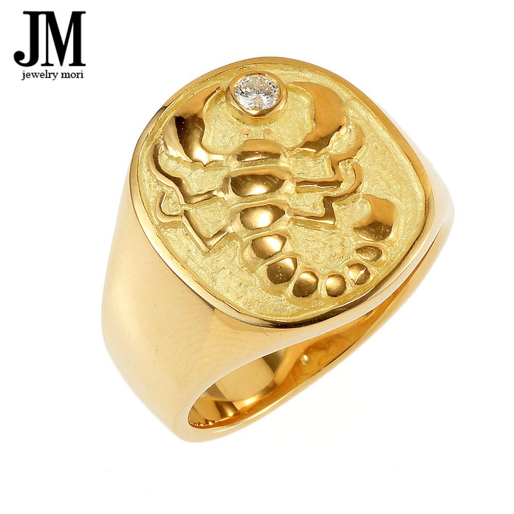 18金 K18 サソリ リング ダイヤモンド 11号〜28号 縁起物 メンズ レディース リング