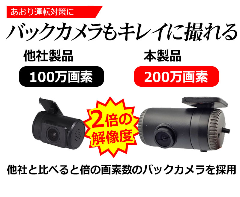 360度 全方位 完全録画 ドライブレコーダー SONY CMOS センサー バックカメラ付属 ドラレコ GPS 2.7インチ あおり運転 対策 前後 時計合わせ不要 Gセンサー 360°ドラレコ WDR ノイズ対策 日本 マニュアル付属 1年保証