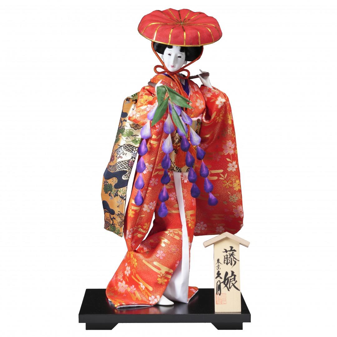 10号 尾山人形 「藤娘」友禅 A7155