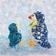手作りキット 『ペンギンの親子』