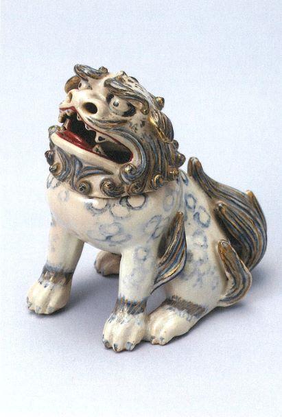 ポストカード 色絵獅子形香炉 仁清