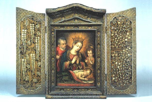 ポストカード 花鳥蒔絵螺鈿聖龕