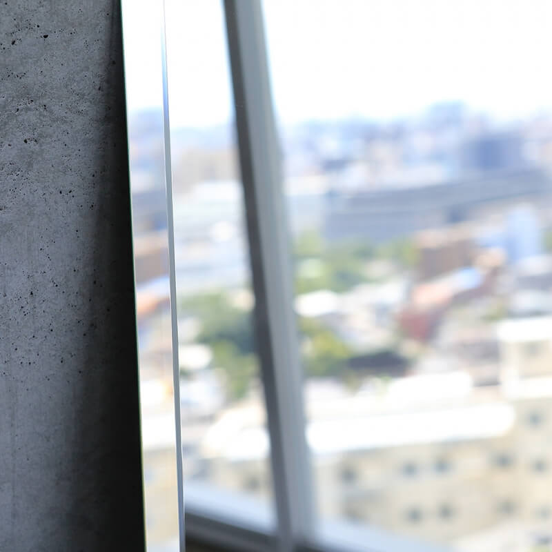 姿見鏡ウルトラクリア【ワイドカット5mm】高1000mm 幅350mm