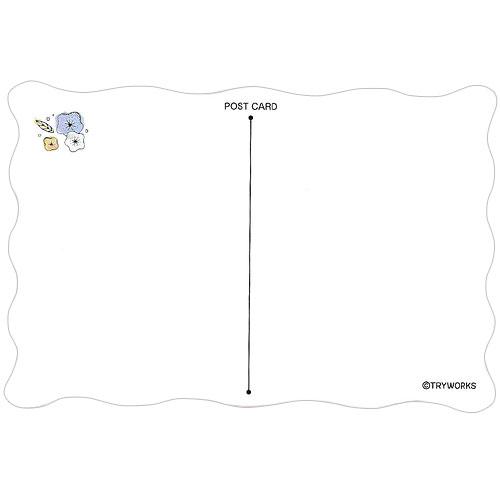 ダイカットポストカード リーフデザイン ブルーVer.|OTONA KAPIBARASAN