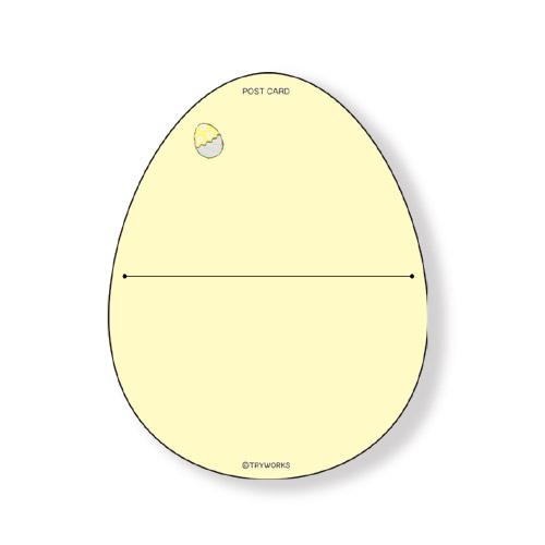カピバラさん ダイカットポストカード イースターVer.1(イエロー)