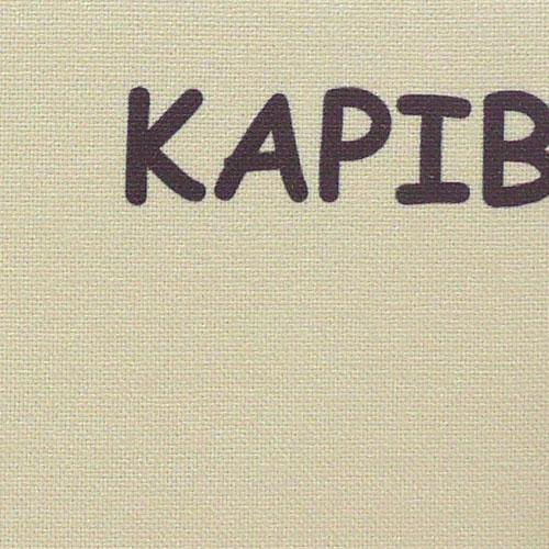 カピバラさんアートクロック ベージュ