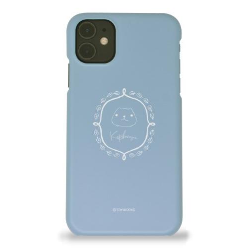 カピバラさん iPhoneハードケース frame WL(マット/ブルー)