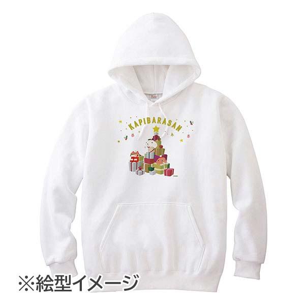 カピバラさんクリスマス プルパーカー ホワイト