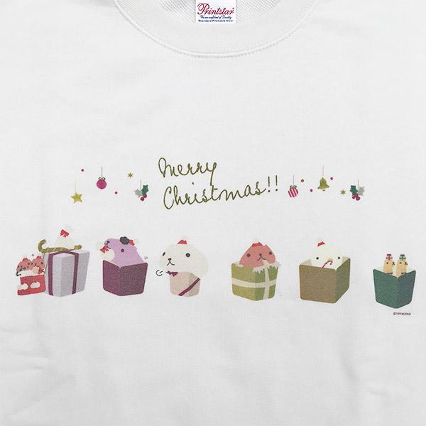 カピバラさんクリスマス トレーナー ホワイト