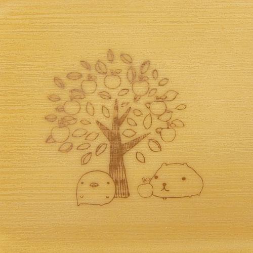 ウッド調ハーフトレー りんごの木とカピバラさん|OTONA KAPIBARASAN