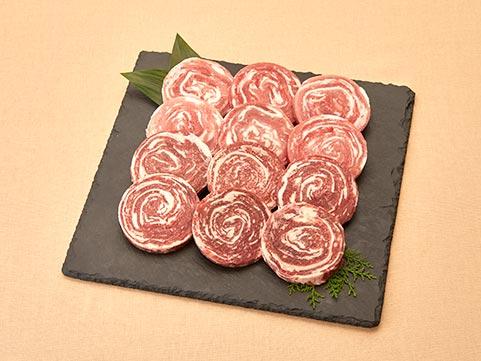 国産黒毛和牛と鹿児島県産黒豚のロールステーキセット